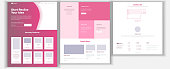 Website Design Template Vector. Business Project. Landing Web Page. Financial Management. Looking Opportunity. Manager Meeting. Corporate Concept. Illustration