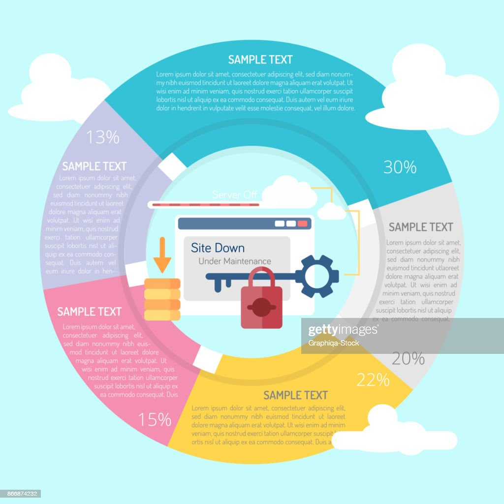 Website Down Infographic Diagram