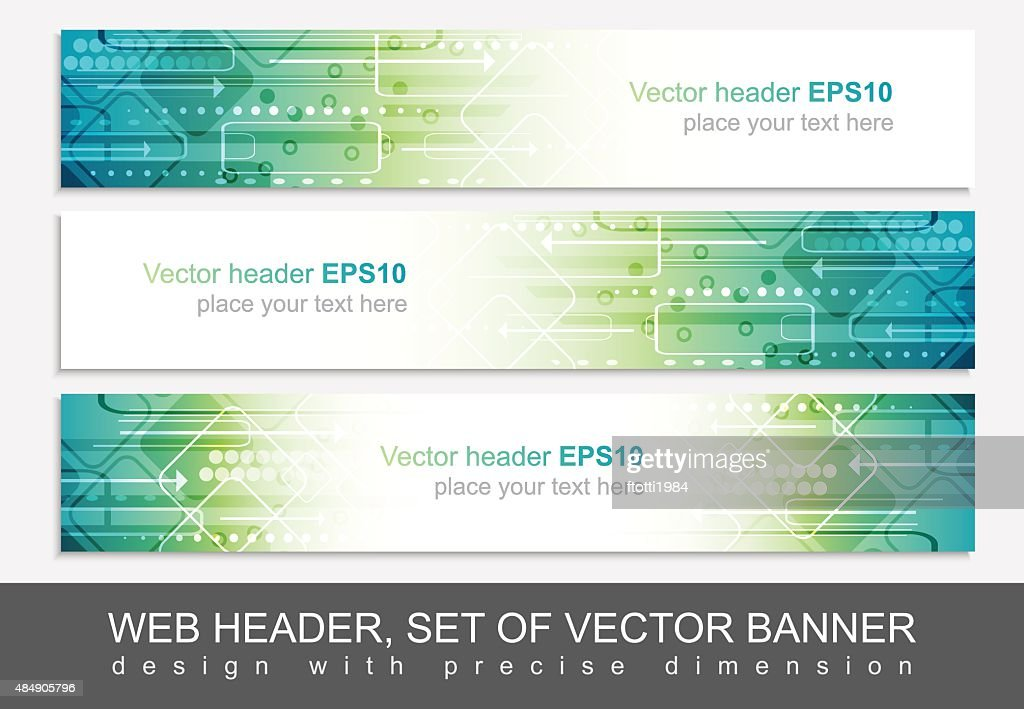 Website header or banner isolated, vector abstract design template