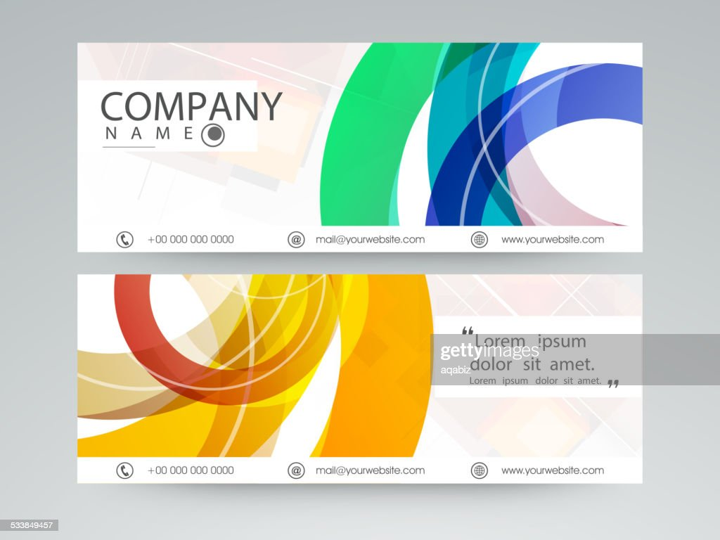 Website header or banner set.