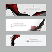 Website header or banner web set abstract. Abstract red black background