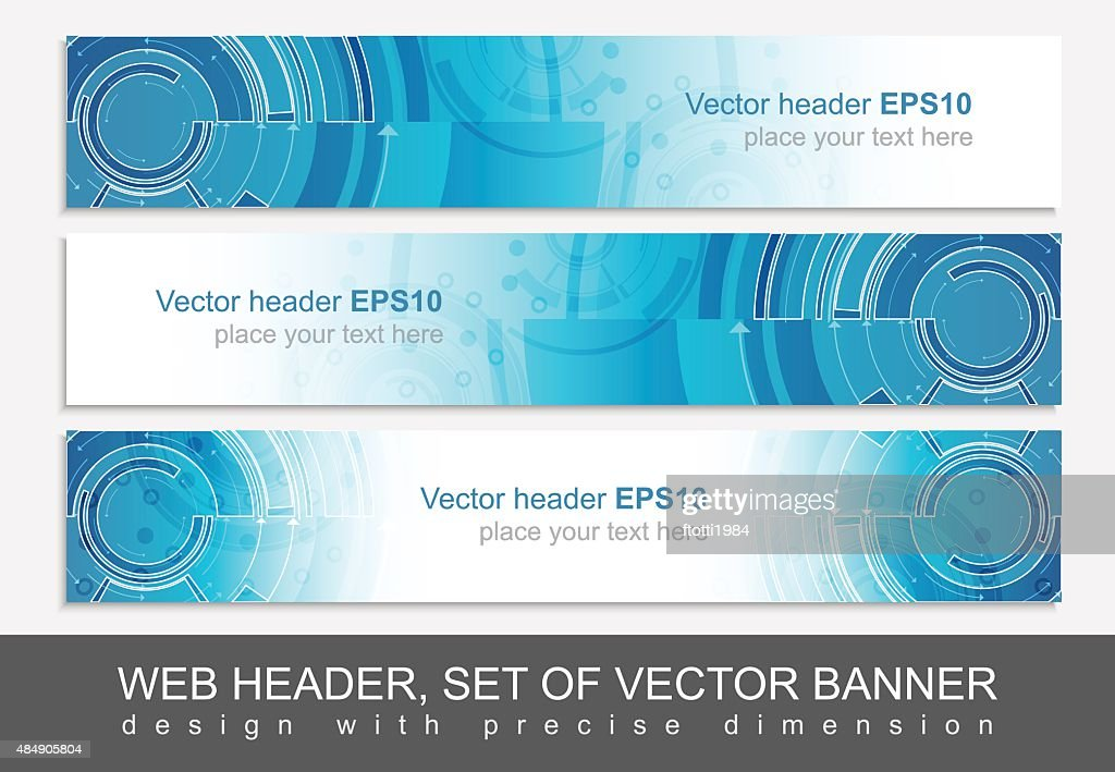Website horizontal template with abstract vector header