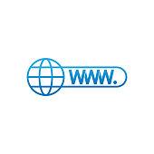 Website icon vector design illustration. Website WWW icon. Website vector flat icon symbol for website, logo, graphic elements, app, UI.