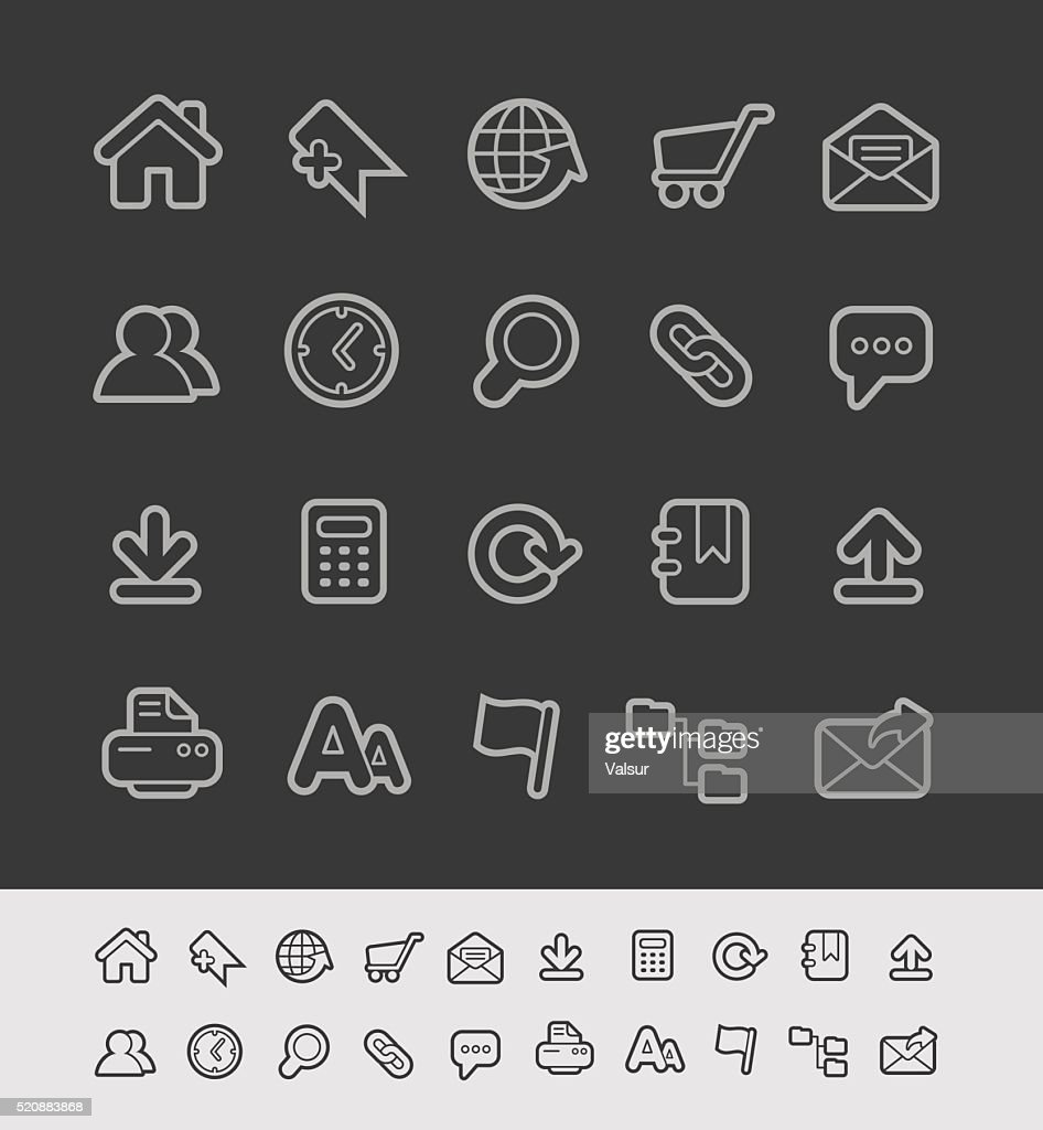 Website Icons - Black Line Series