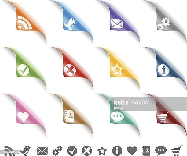 website-symbole, die auf der seite machen - häkchen schriftsymbol stock-grafiken, -clipart, -cartoons und -symbole