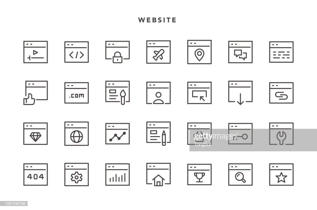 ウェブサイトアイコン : ストックイラストレーション