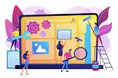 Website maintenance concept vector illustration