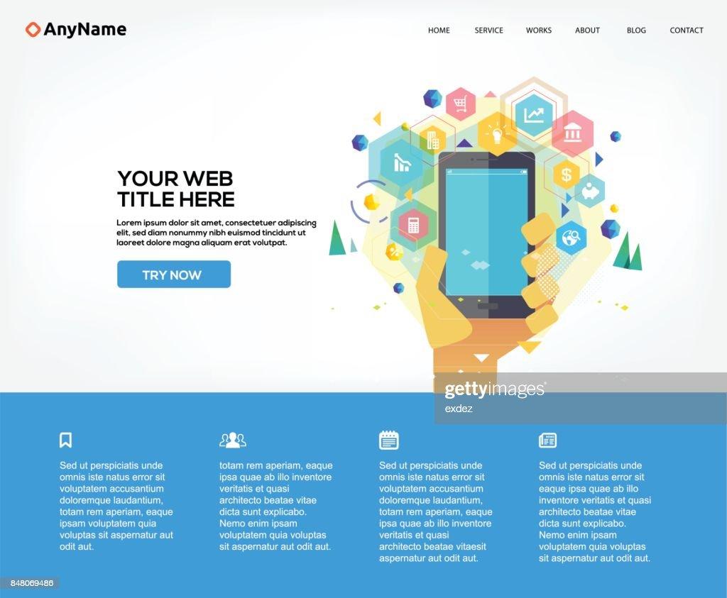 Website on business app