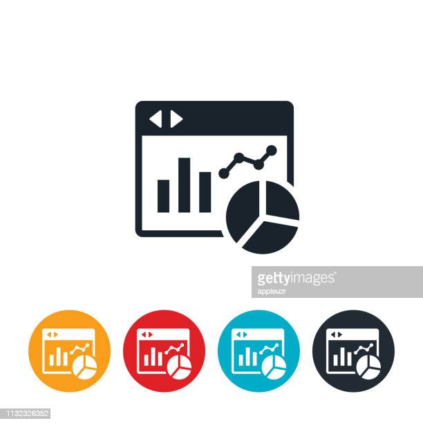 website statistics icon - dashboard stock illustrations