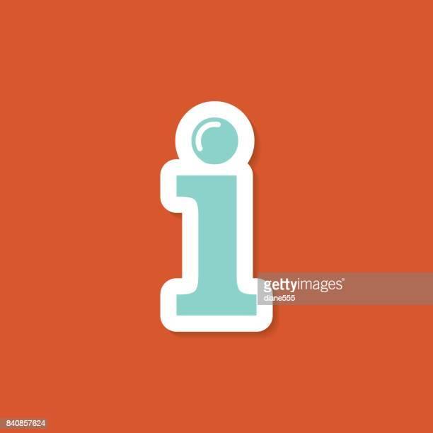 website sticker icons - letter i stock illustrations