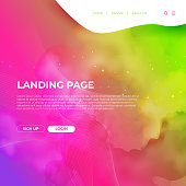 Website Template Design and Landing Page