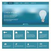 Website Template Design Illustration