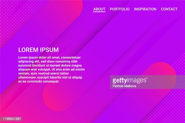 グラデーションの色の図形の背景を持つ web サイトテンプレート - ワイヤーフレーム作成点のイラスト素材/クリップアート素材/マンガ素材/アイコン素材