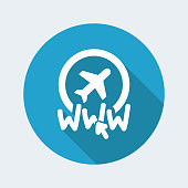 Website travel agency icon