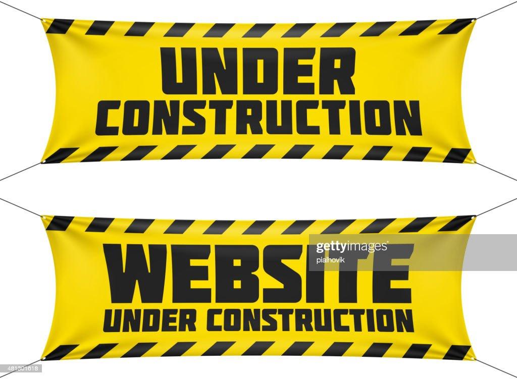 Website under construction banners