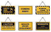 Website Under Construction Sign Icons