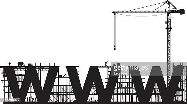 website under construction - foundation make up stock illustrations