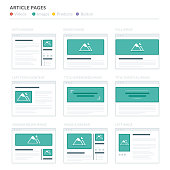 Website Wireframe Layouts UI Kits for Site map and Ux Design