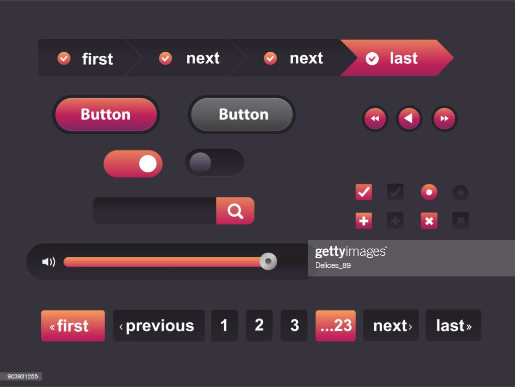 WebVector Illustration of UI kit.