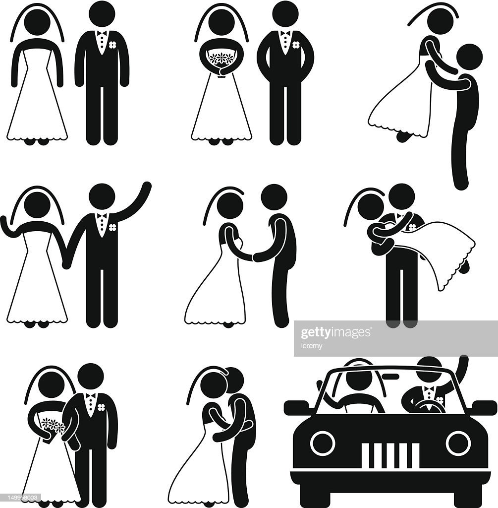 Wedding and Marriage Pictogram