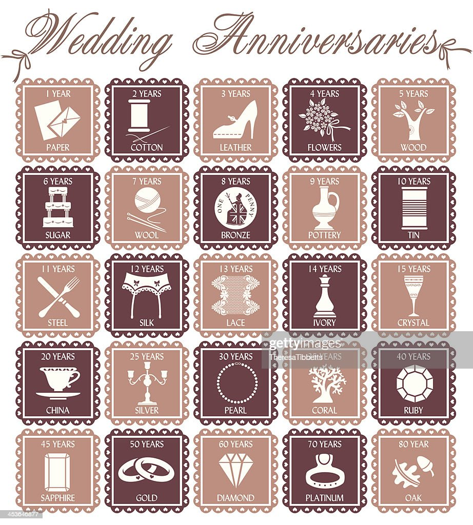 Wedding Anniversaries : Vector Art