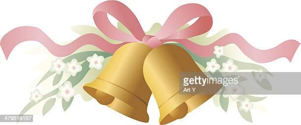 wedding bells - bell stock illustrations