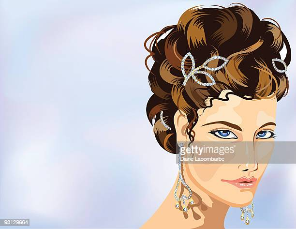 illustrazioni stock, clip art, cartoni animati e icone di tendenza di matrimonio bling - tre quarti