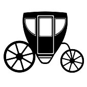 Wedding carriage. Decorative brougham.