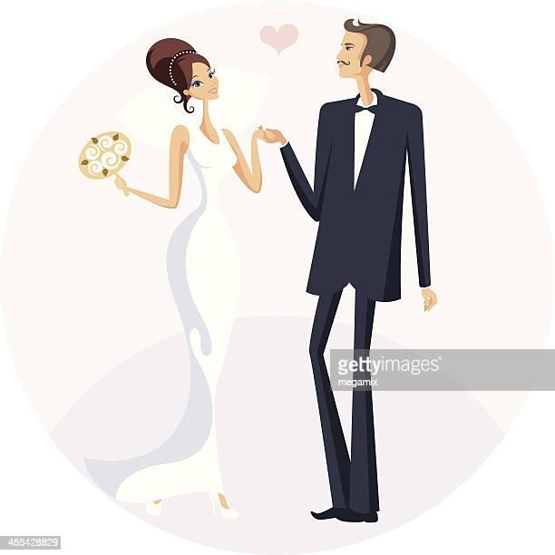 ウェディングセレモニー。 - 異性のカップル点のイラスト素材/クリップアート素材/マンガ素材/アイコン素材