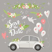 Wedding clipart set