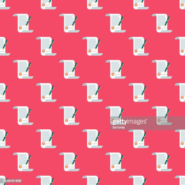wedding contract seamless pattern - legal document stock illustrations, clip art, cartoons, & icons