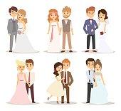 Wedding couple vector illustration