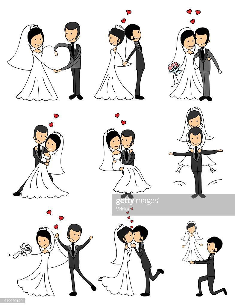 Wedding couples in love