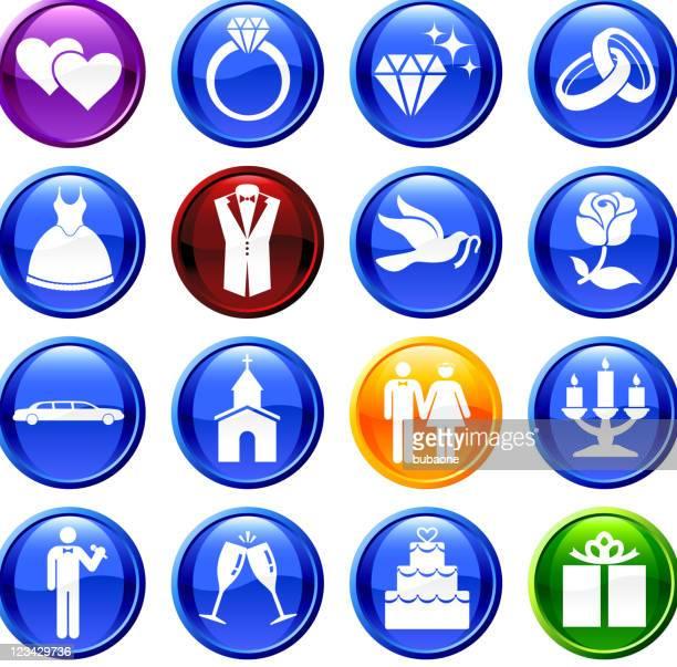 De mariage Ensemble d'icônes vectorielles libres de droits