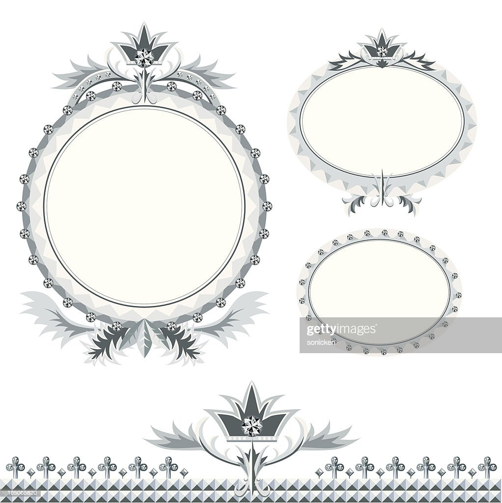 Wedding Diamond Frame Oval Vector Art | Getty Images
