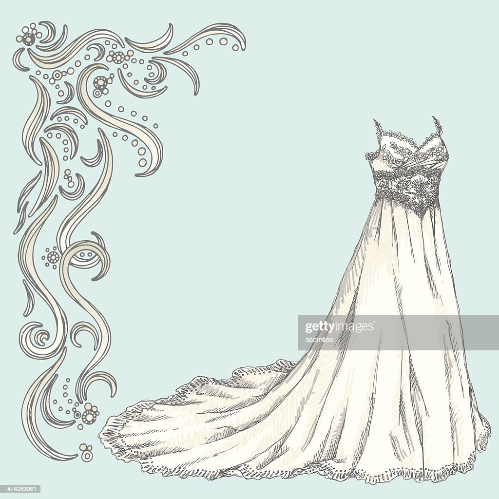 Wedding dress and decoration vector art getty images wedding dress and decoration vector art junglespirit Gallery