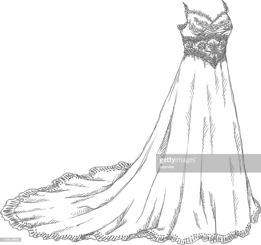 Imagenes de vestidos de novia dibujados