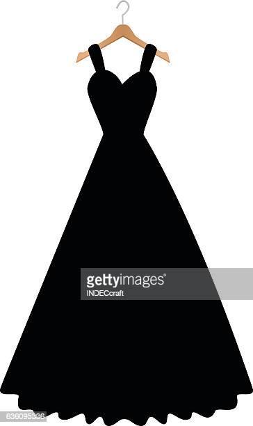 ilustraciones, imágenes clip art, dibujos animados e iconos de stock de vestido de novia  - vestido de novia