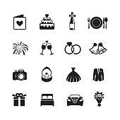 Wedding & Engagement Icons.