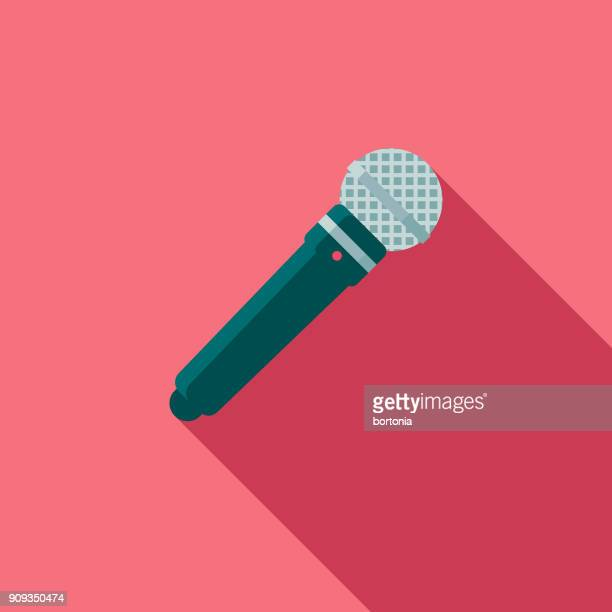 wedding flat design speech icon with side shadow - microphone stock illustrations