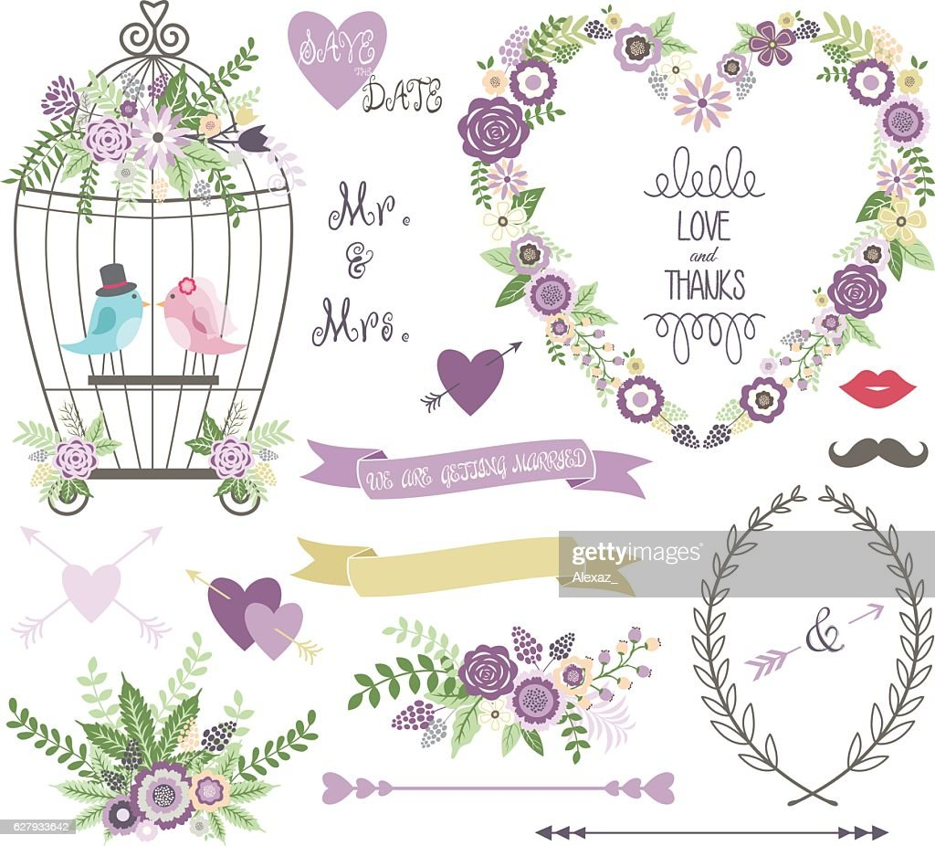 Wedding Floral, love Bird,Laurels,Wedding invitation collections