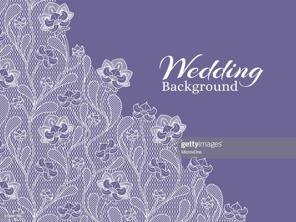 Hochzeit Blumen Vektor Hintergrund Mit Lochmuster Vektorgrafik
