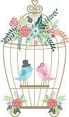 Wedding Floral,Birdcage,Birds.