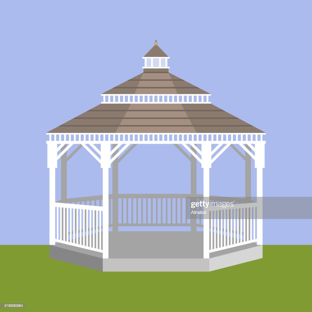 Wedding gazebo. Vector illustration