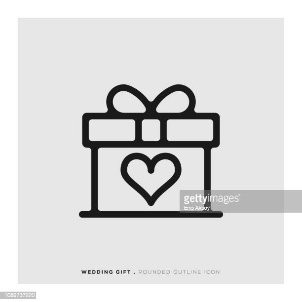Wedding Gift Rounded Line Icon
