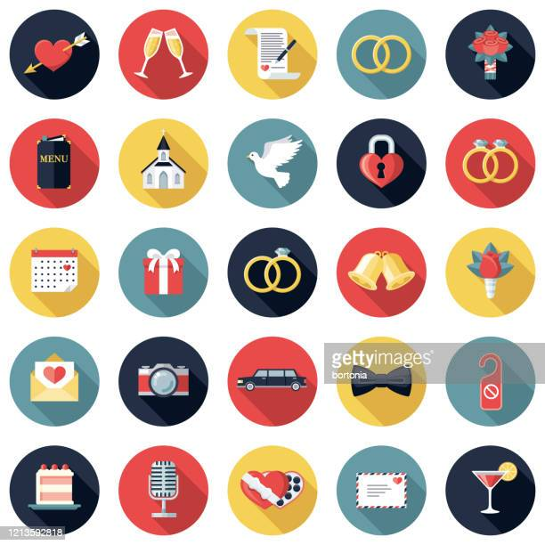 ウェディングアイコンセット - 結婚の平等点のイラスト素材/クリップアート素材/マンガ素材/アイコン素材
