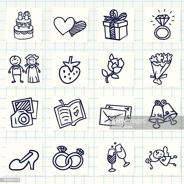 wedding icon - married stock illustrations