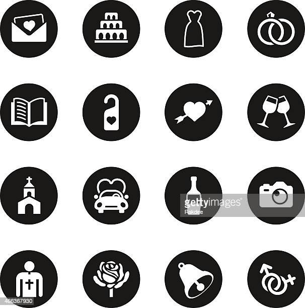 Cercle noir mariage icônes-série