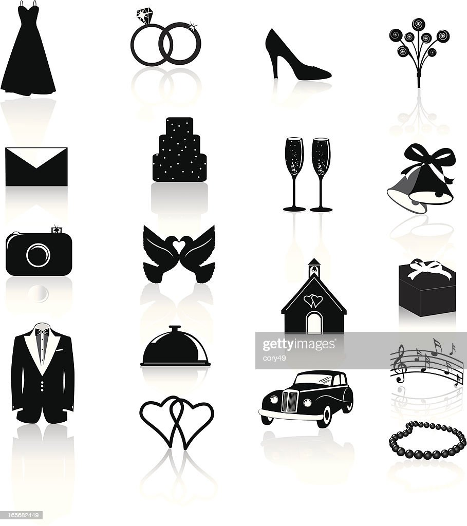 Wedding Icons: Black on White