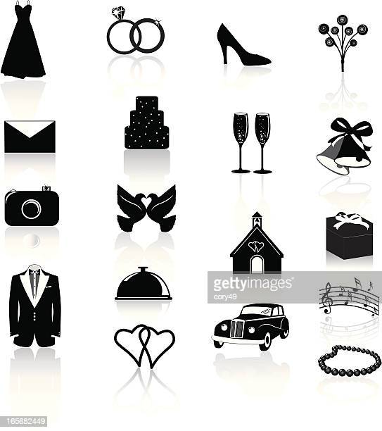 Wedding Icons: Black on White